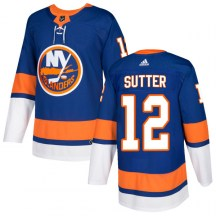 New York Islanders Men's Duane Sutter Adidas Authentic Royal Home Jersey