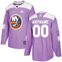 New York Islanders Youth Lorne Henning Adidas Authentic Purple Fights Cancer Practice Jersey